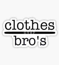 Kleidung über Bros Sticker