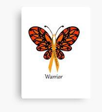 MS Multiple Sclerosis Warrior Tee Canvas Print