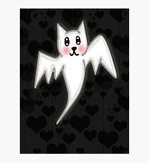 Kawaii Ghost bat  Photographic Print
