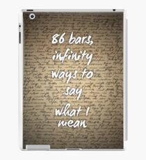86 Bars George Watsky Love Letters IPad Case Skin
