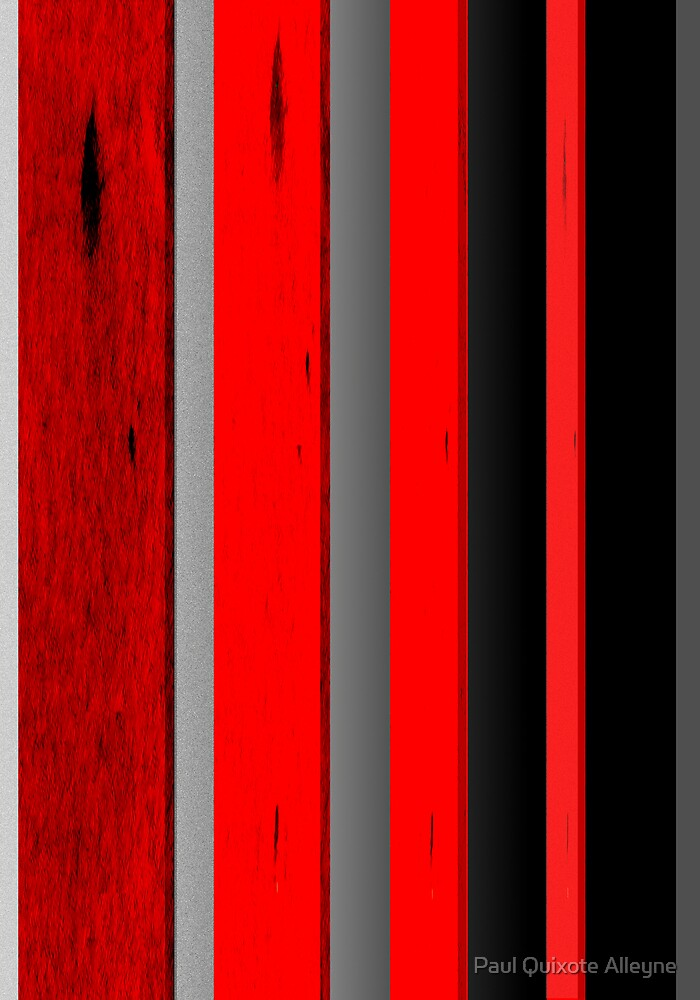 RED BLACK AND GRAY by Paul Quixote Alleyne