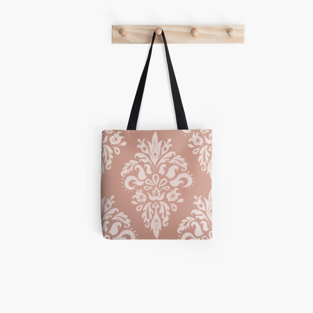 Rose Gold Vintage Pattern Tote Bag