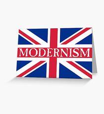 MODERNISM-UK Greeting Card