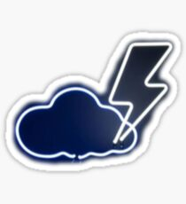 Lightning Neon Sign Sticker