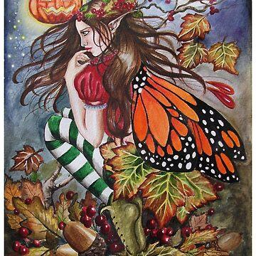 Halloween samhain pumpkin orange butterfly stripy stockings by gabo2828