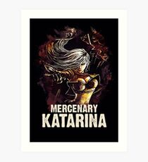 League of Legends MERCENARY KATARINA Art Print
