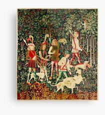 HD The Hunt of the Unicorn (1494 aprox) Metal Print