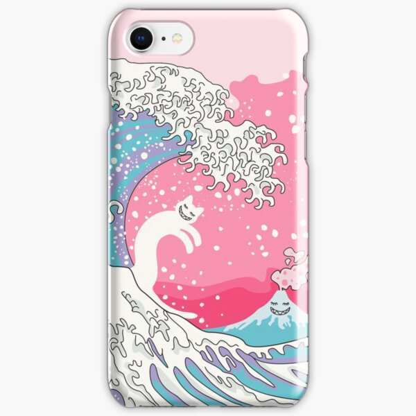 Psychodelic Bubblegum Kunagawa Surfer Cat iPhone Snap Case