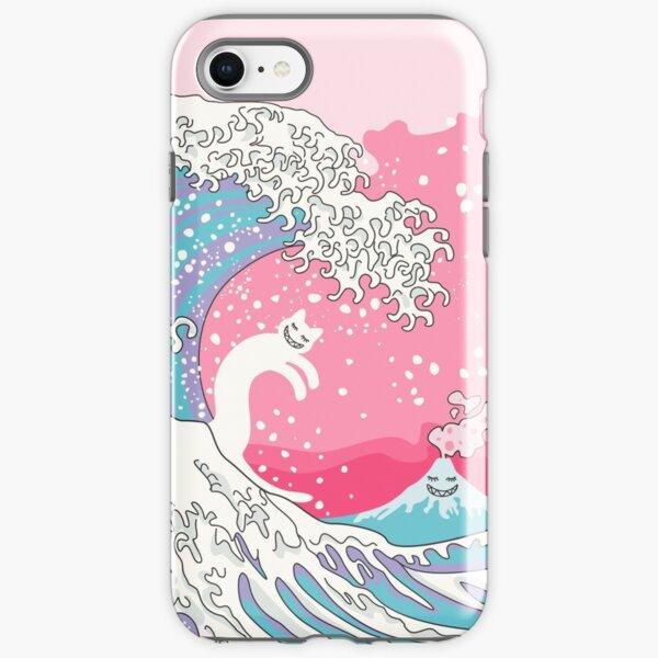 Psychodelic Bubblegum Kunagawa Surfer Cat iPhone Tough Case