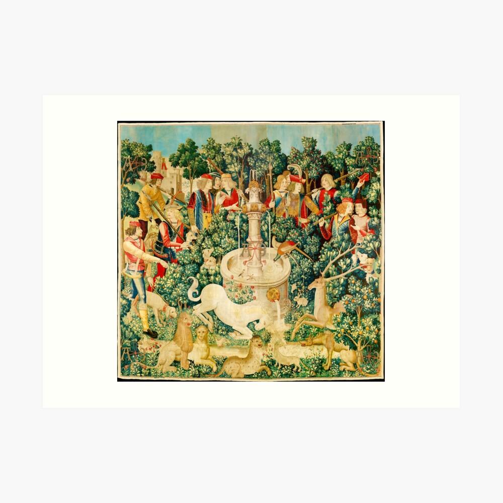 HD The Unicorn is Found (1495) Art Print