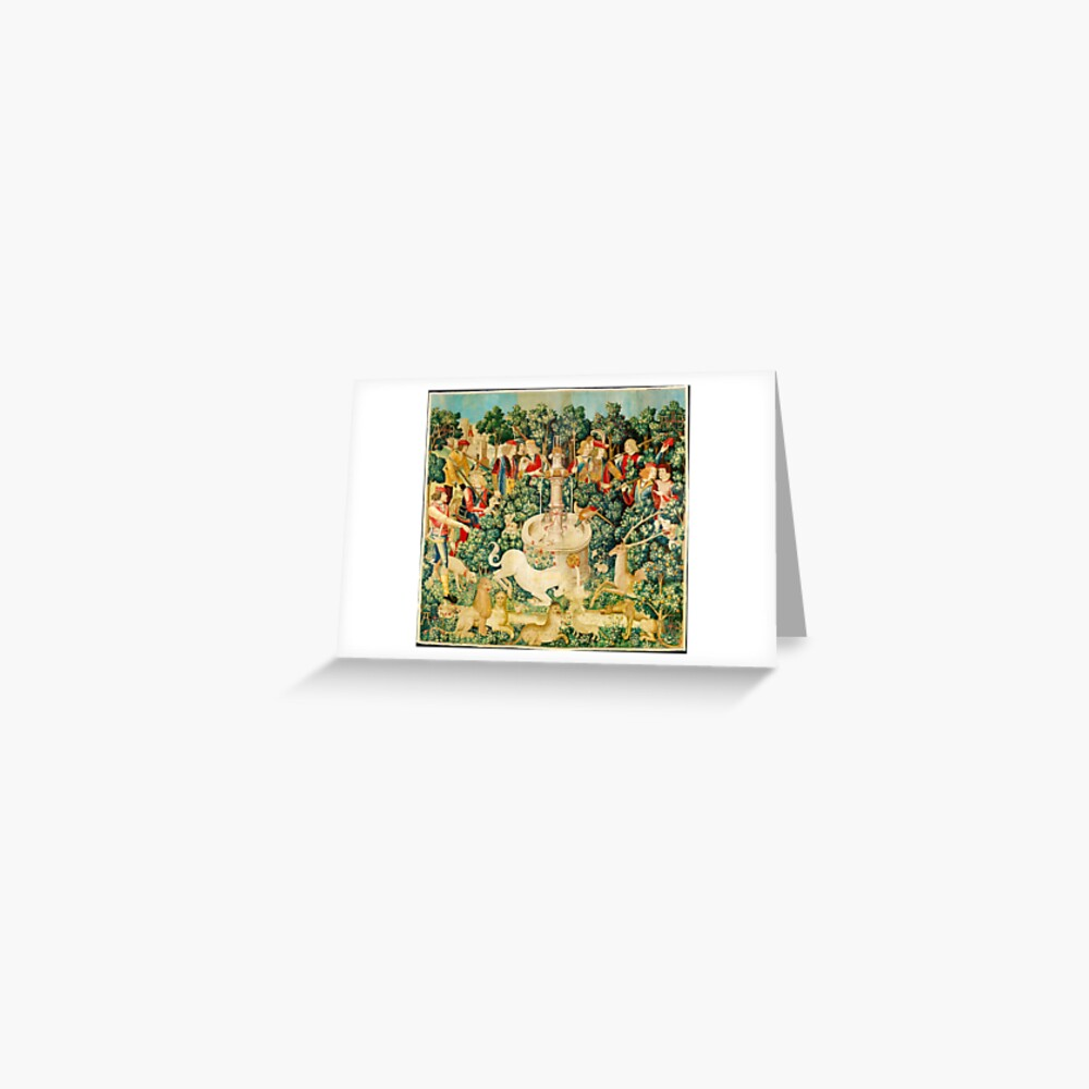 HD The Unicorn is Found (1495) Greeting Card