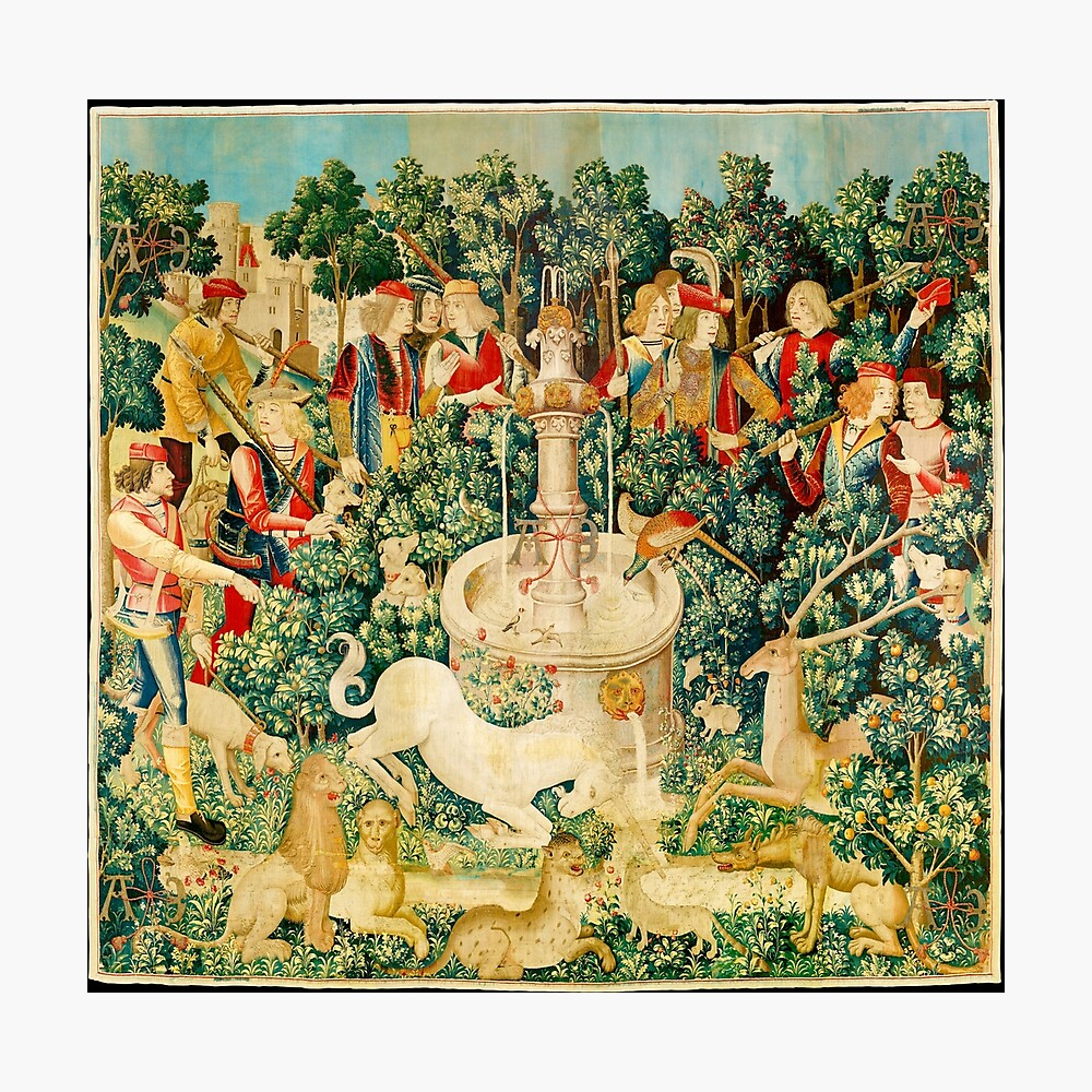 HD The Unicorn is Found (1495) Photographic Print