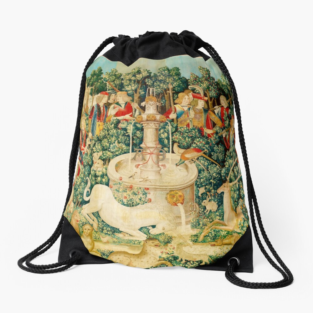HD The Unicorn is Found (1495) Drawstring Bag