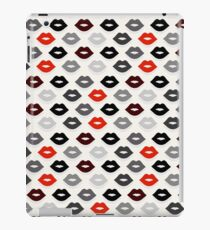 Red and Black Lips Pattern iPad Case/Skin