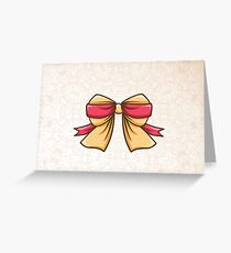 Yellow Bow Greeting Card