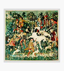 HD The Unicorn is Attacked (1495) Photographic Print