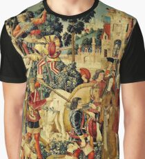 HD The Unicorn is Killed and Brought to the Castle (1495) Graphic T-Shirt