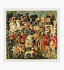 HD The Unicorn is Killed and Brought to the Castle (1495) Photographic Print