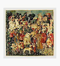 HD Das Einhorn wird getötet und ins Schloss gebracht (1495) Fotodruck