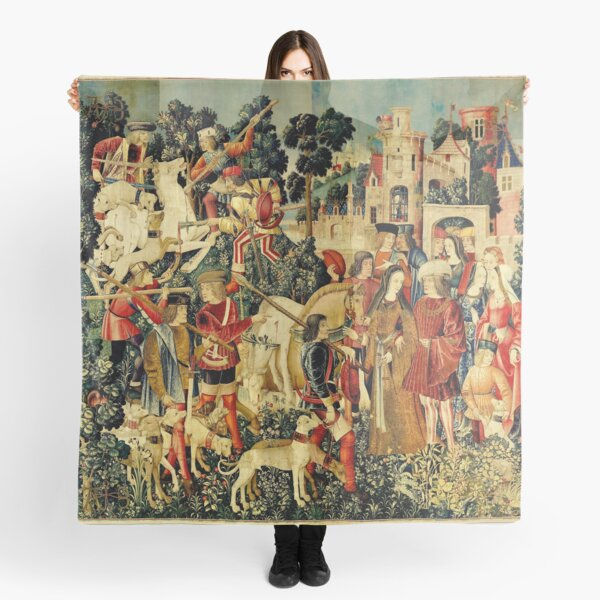 HD The Unicorn is Killed and Brought to the Castle (1495) Scarf