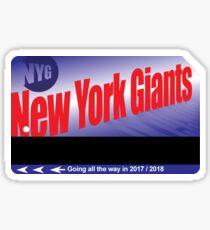 NY Giants Card Sticker