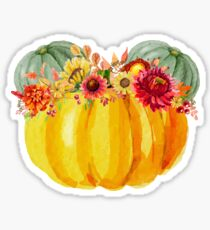Mouse Pumpkin with Floral Crown Sticker