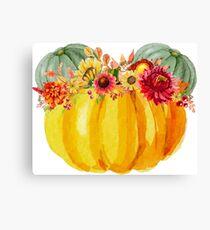 Mouse Pumpkin with Floral Crown Canvas Print