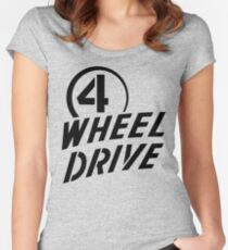 4 Wheel Drive! Fitted Scoop T-Shirt