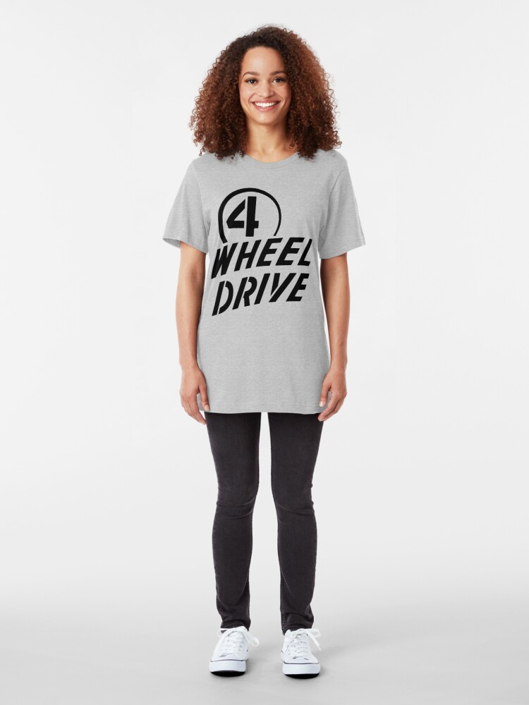 Alternate view of 4 Wheel Drive! Slim Fit T-Shirt