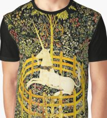 Camiseta gráfica HD El unicornio en cautiverio (1494 aprox)