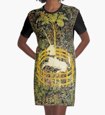 HD The Unicorn in Captivity  (1494 aprox) Graphic T-Shirt Dress