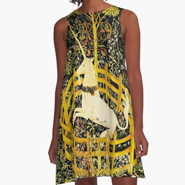 HD The Unicorn in Captivity  (1494 aprox) A-Line Dress