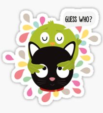 Bird and Cat Guess Who R3z9i Sticker
