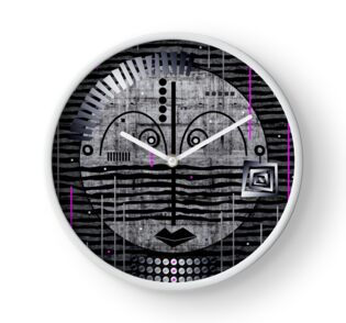Tribal Whimsy 17 - Clock by Glen Allison