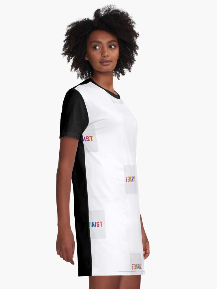 Alternate view of FEMINIST   Graphic T-Shirt Dress