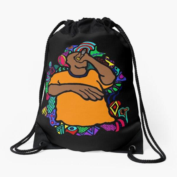 Holla if you hear me Drawstring Bag