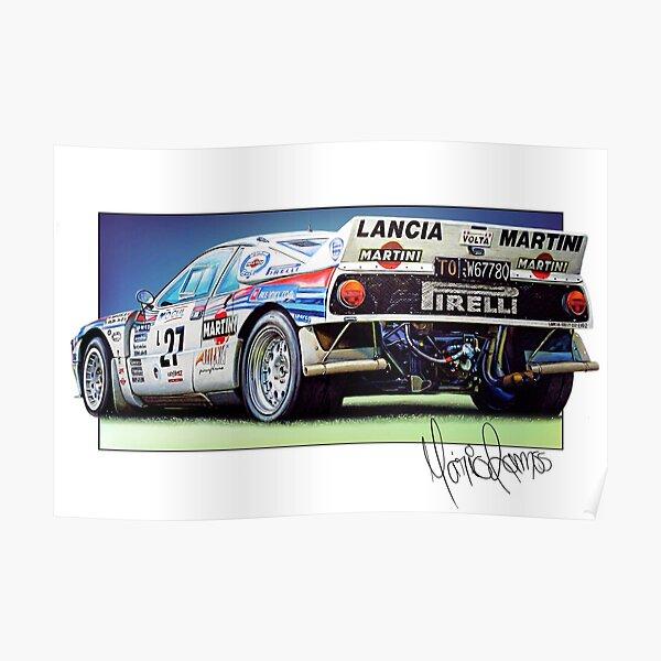 einer erstaunlichen Lancia 037 Gruppe B. Poster