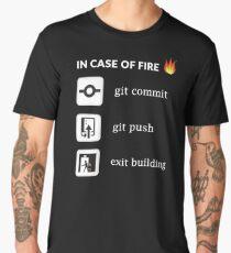 In case of fire git commit git push - Funny Programming Men's Premium T-Shirt