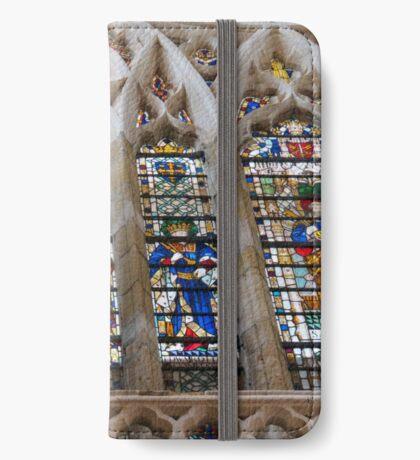 Atemberaubende Buntglasfenster iPhone Flip-Case