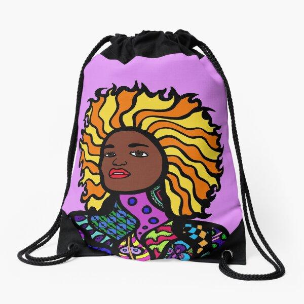 Afro Punk Drawstring Bag