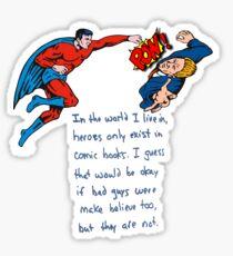 Heroes Beat Bad Guys Sticker
