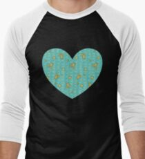 Scissors, Buttons, and Thread - Yellow on Teal T-Shirt