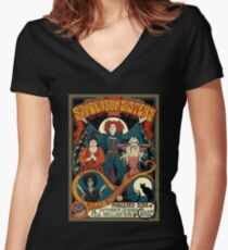 Sanderson Sisters Tour Poster Women's Fitted V-Neck T-Shirt