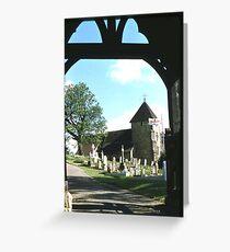 St, Lawrence Church, Bidborough. Greeting Card