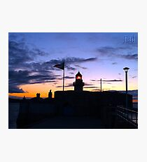 Lighthouse After Sunset, Dublin Bay Photographic Print
