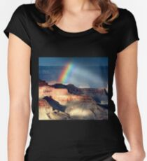 Light and Shadow 1 Women's Fitted Scoop T-Shirt