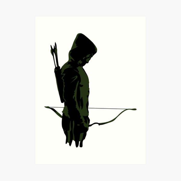 Green Archer with Arrow Art Print