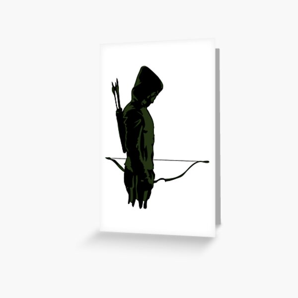 Green Archer with Arrow Greeting Card