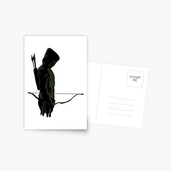 Green Archer with Arrow Postcard