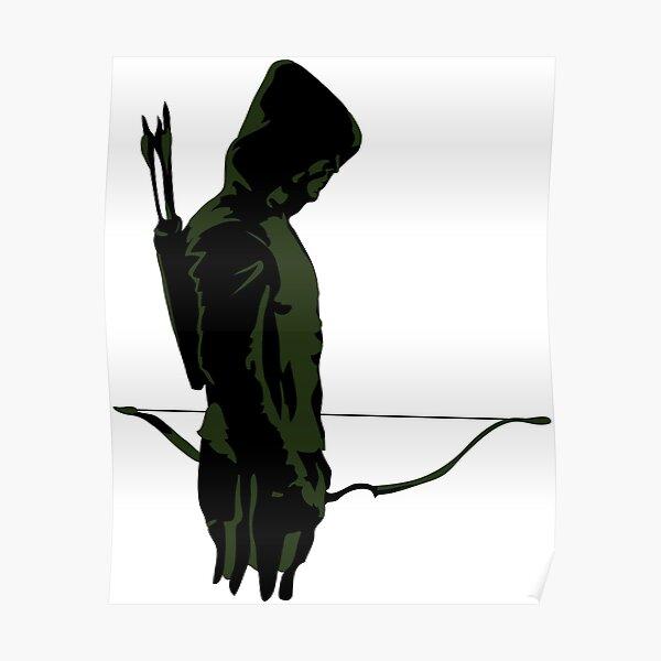 Arquero verde con flecha Póster